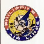 Antigua etiqueta de maleta Air Lines Philippine