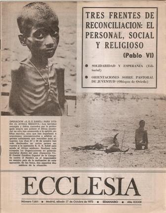 ECCLESIA Número 1664, 27 de Octubre de 1973, Año XXXIII