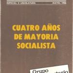 Cuadernos parlamentarios, mayo 1986, cuatro años de mayoría soci