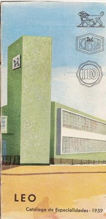 Leo. Catálogo de especialidades 1959
