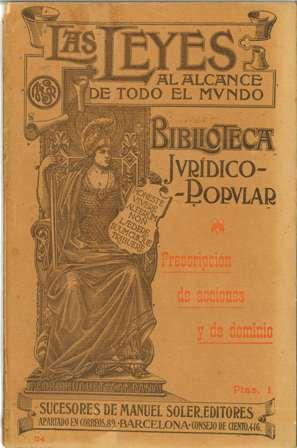 Biblioteca Jurídico Popular, Huguet y Campañá, Prescripción de acciones y de dominio