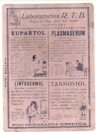 Papel secante, Laboratorios R.T.B.