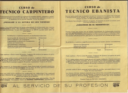 Publicidad CEAC 1961