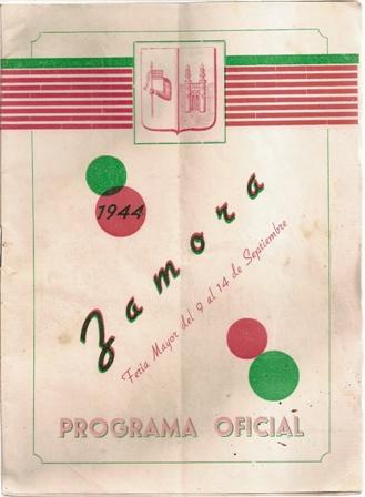 Zamora, Feria Mayor del 9 al 14 de septiembre, 1944