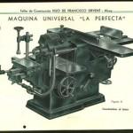 Lámina de máquina Universal La Perfecta, Hijo de Francisco Sirvent, Alcoy