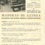 Folleto Heliodoro Gimeno, Maderas de Guinea