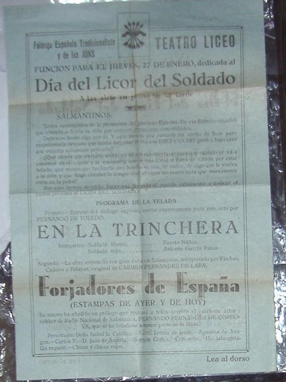Teatro Liceo Salamanca Dia del licor del soldado
