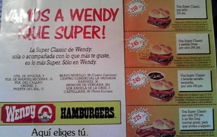 wendy publicidad años 80