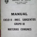 Manual ciclo II, Imec Sargentos, Grupo III, Materias comunes