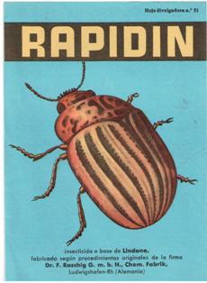 Publicidad Rapidín, años 50