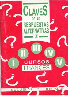 Claves de las respuestas alternativas de I, II, III, IV y V, cur
