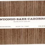 Folleto Antonio Saez Cazorro, Muebles de Cocina, Medina del Camp