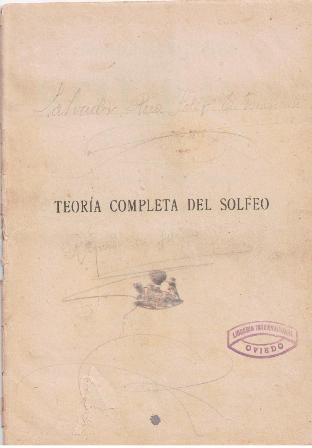 Teoría completa de Solfeo, José Pinilla. (CAVE 194)
