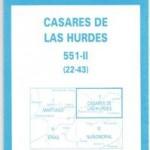 Mapa topográfico Nacional de Casares de las Hurdes 551-II (22-43