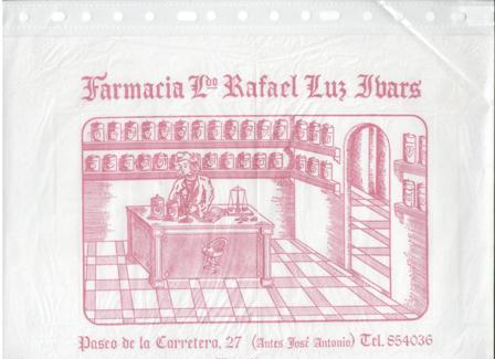 Papel envolver Farmacia Ldo. Rafael Luz Ibars, Benidorm
