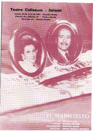 Programa de Teatro Coliseum Santander, El Manifiesto, 1987