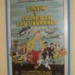 Cartel original pelicula tintin y el lago de los tiburones
