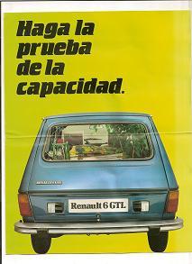 Publicidad Renaulto 6 GTL
