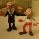 Muñecos de goma Mortadelo y Filemón