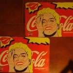Dos salvamanteles Cocacola