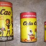 Lote Cola Cao 1kg, 500 gr, 200 Gr. Años 70