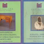 dos catalogos de Castellana Subastas.