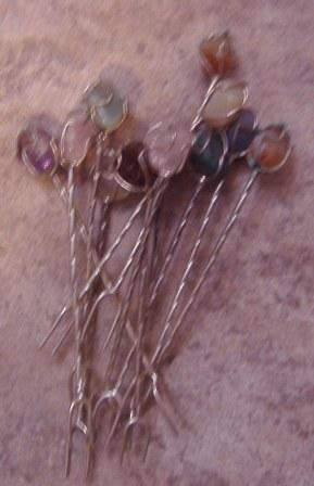 palillos metal y cristal