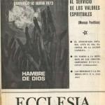 ECCLESIA Número 1644, 2 de Junio de 1973, Año XXXIII