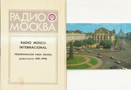 Radio Moscú. Programa para España 1989 - 1990