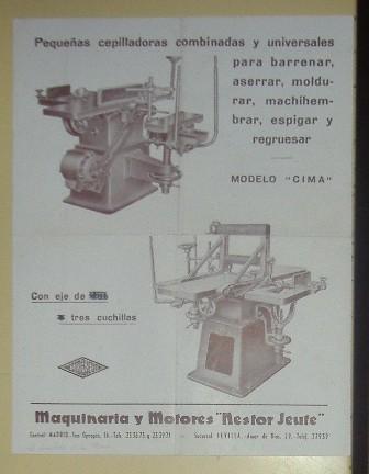Lámina Maquinaria y motores, Nestor Jeute