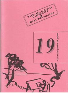 Col.lección poesía de paper, nº 19, The Blazing Library. Biel Me