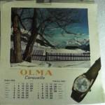 olma calendario 1962